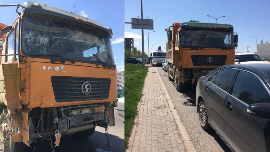 Семь автомобилей столкнулись в Нур-Султане
