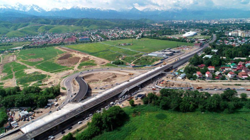 Одну из эстакад развязки на Кульджинке открыли в Алматы