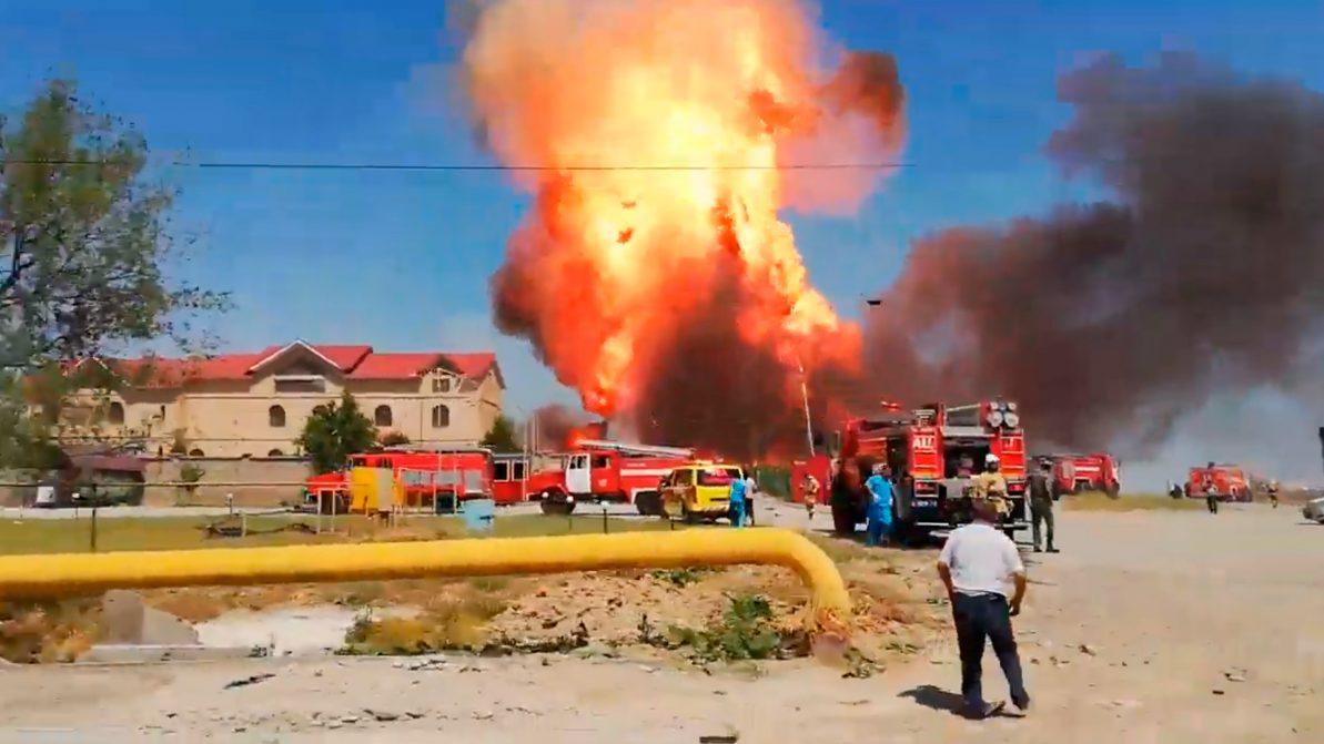 Автогазозаправочная станция взорвалась в Шымкенте