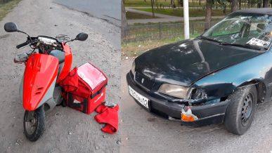 Пьяный водитель сбил доставщика еды в Алматы