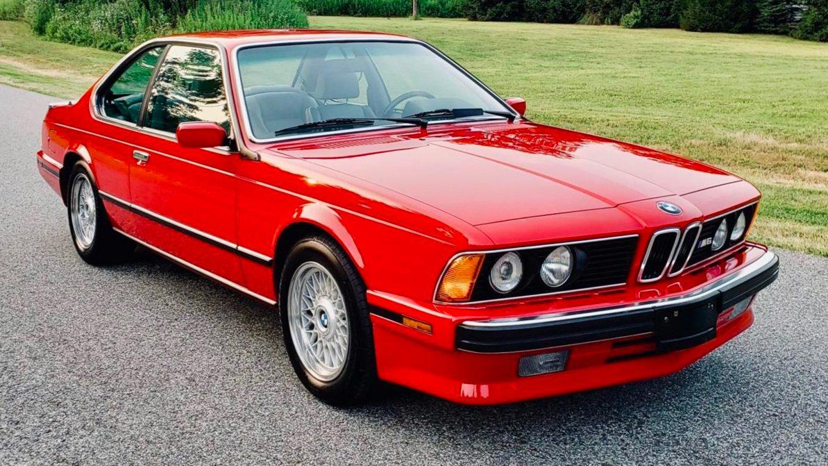 BMW M6 (E24) почти без пробега пустят с молотка