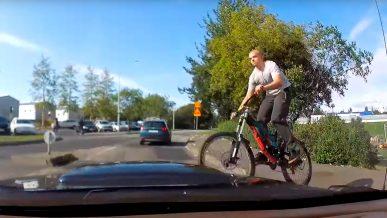 Остерегайтесь летающих велосипедистов