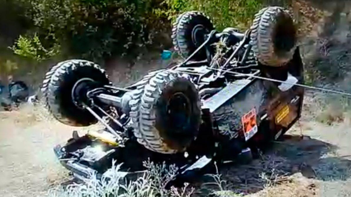 Эффектный переворот TLC Prado засняли во время гонок близ Алматы
