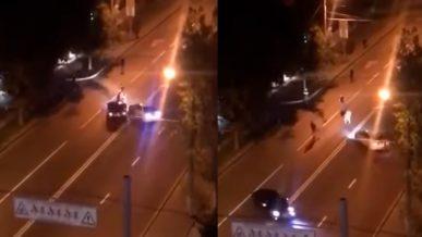 Драчунов раскатали по асфальту в Алматы