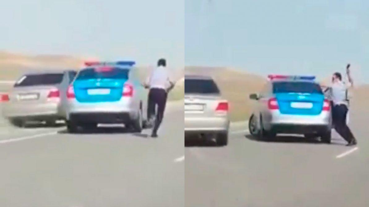 Полицейская погоня за Toyota Camry попала на видео