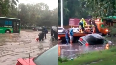Пешком быстрее. Алматы снова затопило минувшим вечером