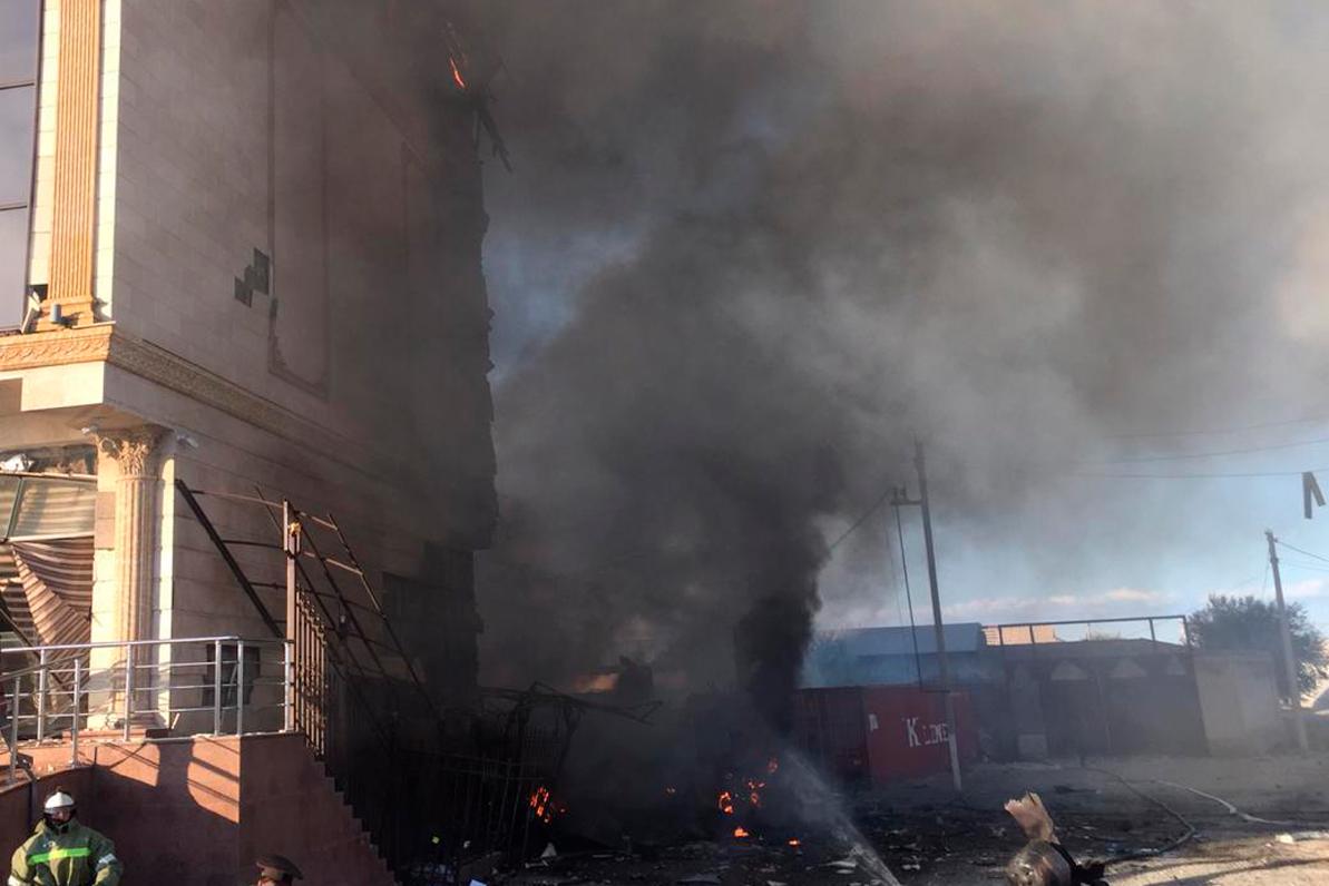 Газовоз взорвался в Туркестане