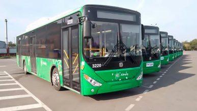 10 автобусов Zhong Tong всё-таки пришли в Алматы