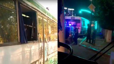 Четыре автобуса обстреляли в центре Караганды