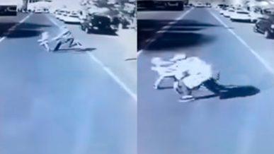 Мужчина с ребёнком попали под автобус в Кызылорде