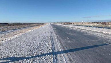 Гололёд на дорогах севера и востока Казахстана