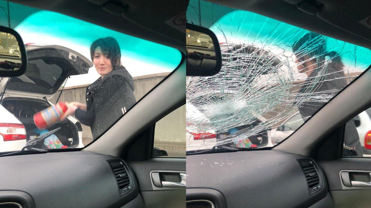 Дорожная ярость на Саина: женщина в гневе страшна!