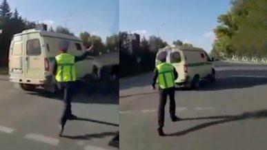 Полицейского, бросившего жезл в инкасаторов, всё-таки наказали