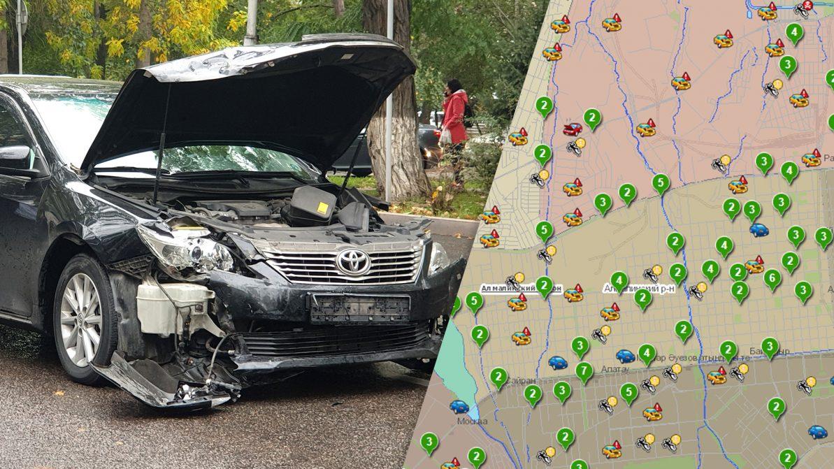 В Алматы снизился уровень аварийности! Правда?