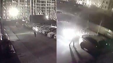 Четыре машины расколотил пьяный хулиган в Нур-Султане