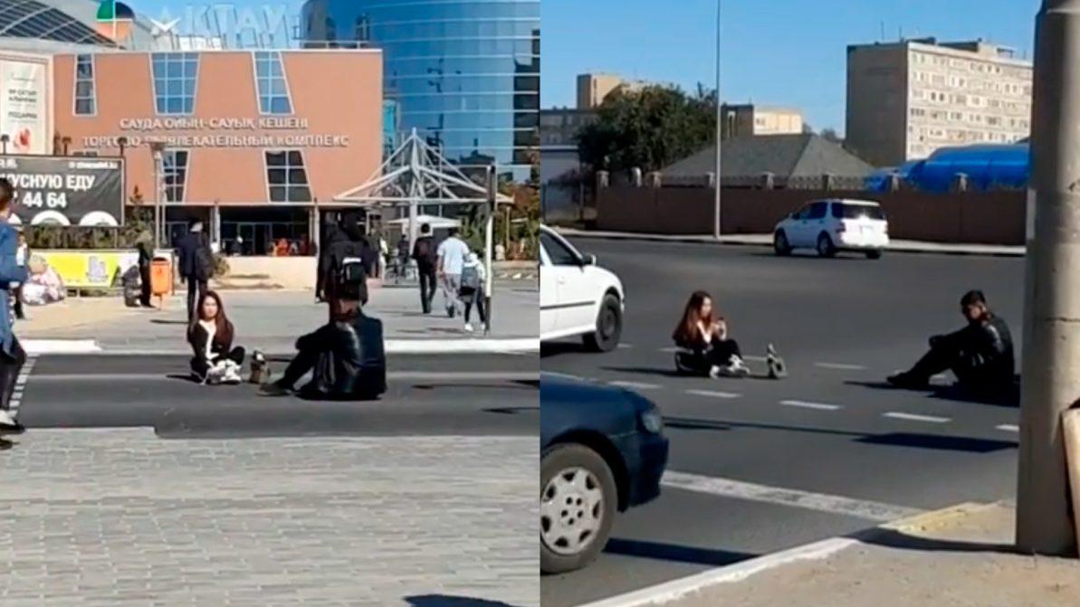 Пранк на пешеходном. Шутниками заинтересовалась полиция