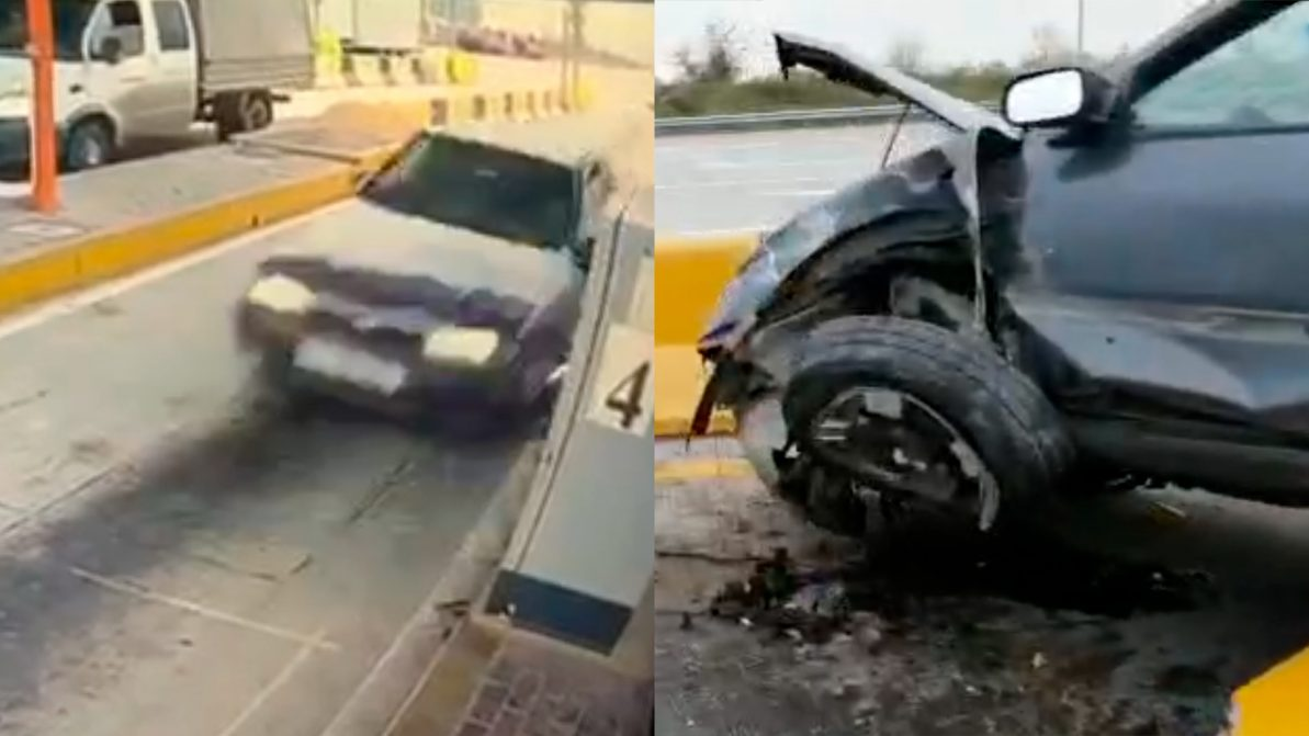 «Лётчик» на Nissan Primera протаранил пункт оплаты на трассе Алматы — Хоргос