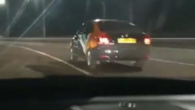Полицейская погоня за машиной Anytime попала на видео