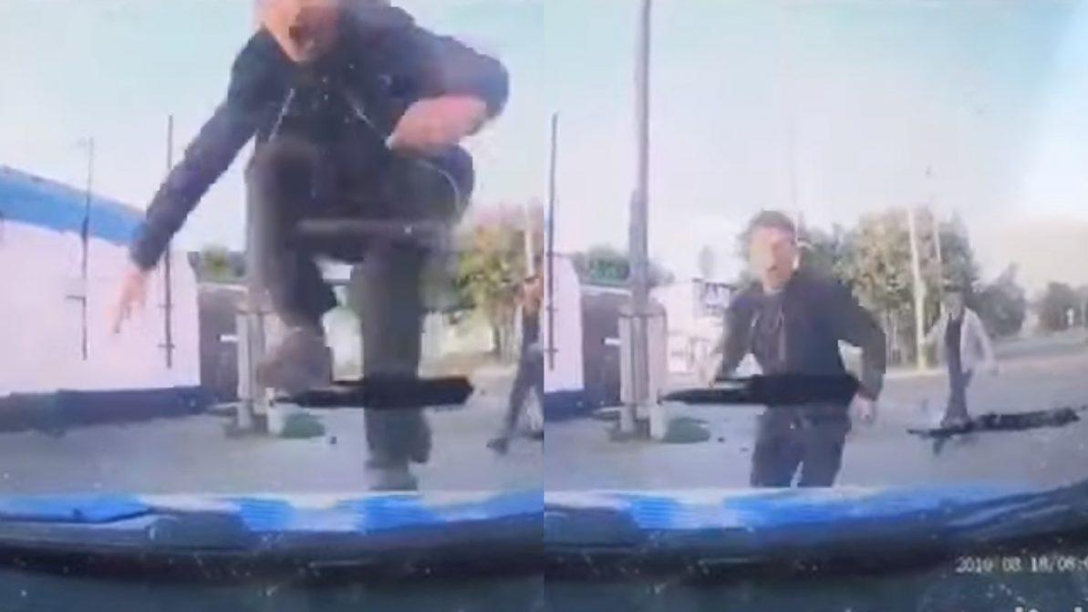 Прыжок на патрульную машину стоил костанайцу трёх лет