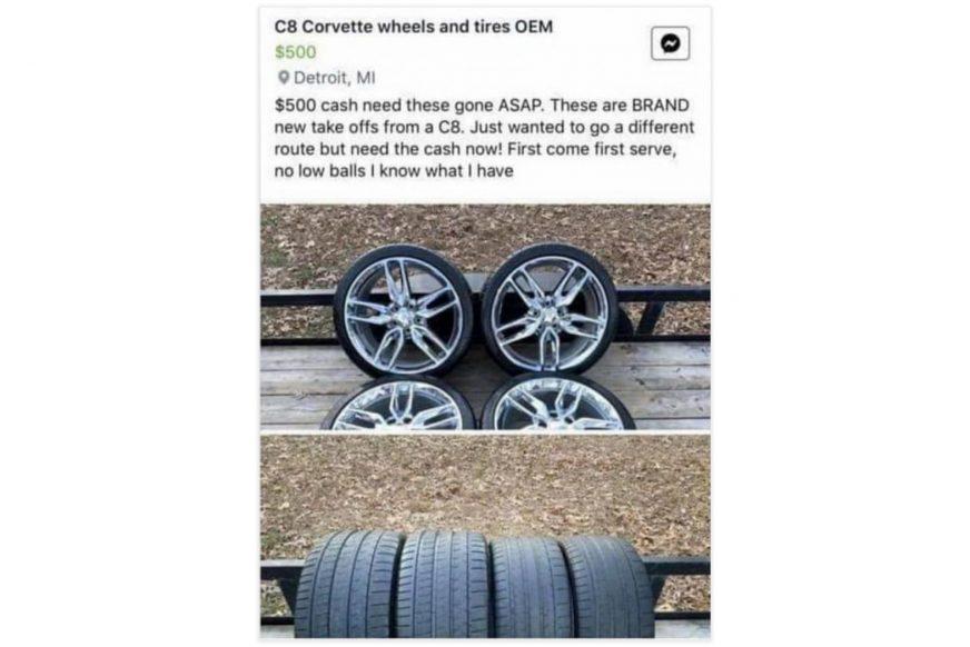 Суета вокруг снятых колёс Corvette