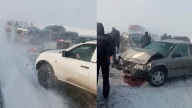 51 машина столкнулась на трассах, ведущих из Нур-Султана в Щучинск и Темиртау