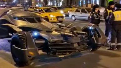 Настоящий бэтмобиль отправили на штрафстоянку в Москве