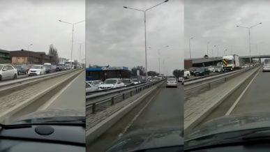 Пробки на выездах из Алматы