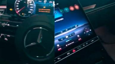 Интерьер Mercedes-Benz S-Class (W223) показали на видео